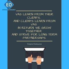 VAs learn from their clients,  and clients learn from VAs  in return. We grow together  and strive for long term partnerships.  #outsource #dropshipping #dropshipper #wordpress #attraction #business #b2b #b2c #biztip #howto #DIY #consumer #MarketingTips . #marketing #mktg #GlobalMarketing #DigitalMarketing #SocialMedia #globalisation #copywriting #socialmediamanagement #shopify #WordPress #winnertips #Tips Grow Together, Copywriting, Attraction, Digital Marketing, Wordpress, Positivity, Social Media, Learning, Business