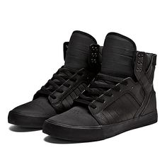 SUPRA SKYTOP Shoe | BLACK - BLACK | Official SUPRA Footwear Site
