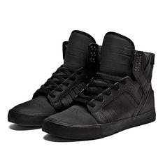 SUPRA SKYTOP Shoe | BLACK - BLACK | Official SUPRA Footwear Site