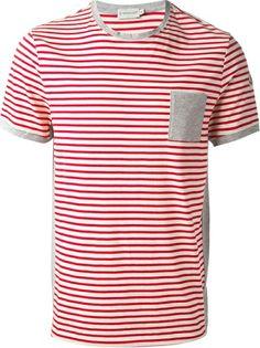 7abdf3a6f Dark Blue and White Strip T-shirt