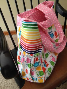 """Diaper Bag...made from Anna Maria Horner's """"Here We Go"""" pattern."""