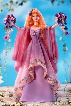 Barbie Doll as goddesses | Goddess of Beauty Barbie Doll Goddess of Spring Barbie Doll