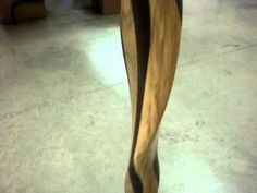 Amish Made Wooden Striped Twisted Cane