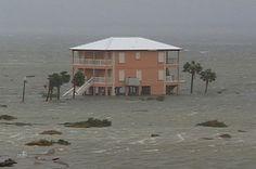 Hurricane Ivan  -  Pensacola Beach Barrier Islands, Florida