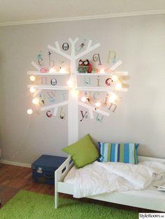 barnrum,träd,väggmålning,väggmålning barnrum,barnrumsinredning