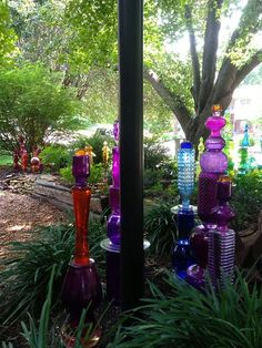 JuxtaposeJane's Glass Totem Garden