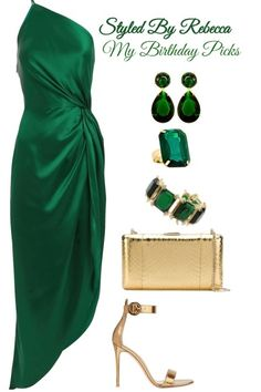 A+Green+Birthday from REBECCA REBECCADAVISBLOGGER - trendme.net Emerald Green Dress Prom, Event Dresses, Prom Dresses, Formal Dresses, Bride Dresses, Couture Trends, Classy Outfits, Beautiful Outfits, Cute Outfits