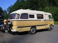 Robur camping car.  Reminds me of an old GMC School bus :)
