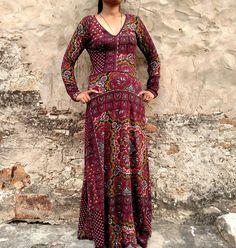 Stretchkleider - Maxi Kleid Lange Arme Sweat Dress LUNA - ein Designerstück von Coisas4U bei DaWanda