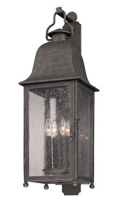 "B3213 Troy Exterior Larchmont Aged Pewter Large 4 Light Wall Lantern 31""h x 11 $596"