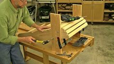 Complete plans and video show you how to build a classic Adirondack chair. This project is fun and easy to build for woodworkers of all skill levels.