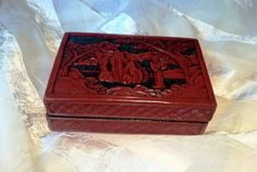 FABULOUS Chinese Cinnabar Lacquer Estate by NorthCoastCottage, $129.00