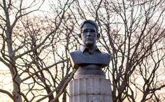"As the public continued to debate whether Edward Snowden was a hero or a traitor, a group of rogue artists installed a bust of him in a war heroes park in Brooklyn. They noted that figures who've exposed government wrongdoing have been ""cast as criminals rather than in bronze."" The bust casts Snowden as a hero in history for revealing NSA spying. It can now be seen in the Brooklyn Museum."