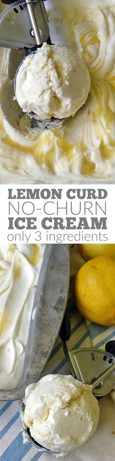 Lemon Curd No Churn Ice Cream is a rich tangy sweet creamy lemony dessert perfect for summer! No ice cream machine needed! Lemon Curd No Churn Ice Cream is a rich tangy sweet creamy lemony dessert perfect for summer! No ice cream machine needed! Ice Cream Treats, Ice Cream Desserts, Lemon Desserts, Lemon Recipes, Frozen Desserts, Ice Cream Recipes, Frozen Treats, Dessert Recipes, Lemon Curd Dessert