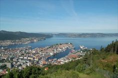 View over Bergen from the top of the Floibanen
