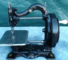 An Early model Princess of Wales MKII sewing machine. Antique Sewing Machines, Princess Of Wales, Old Things, Craft, Antiques, Simple, Model, Room, Originals