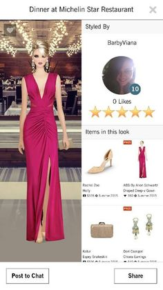 """Look by Barbara Viana for Dinner at Michelin Star Restaurant 5 stars Covet Fashion - Jet Sets ----------------------------------------------------------------- Look por Barbara Viana para evento """" Dinner at Michelin Star Restaurant"""" 5 Estrelas Covet Fashion - Jet Sets"""