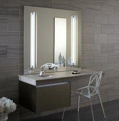 Robern Single Drawer Deep Bathroom Vanity in Satin Bronze