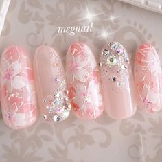 春/成人式/ブライダル/デート/ハンド - megnailのネイルデザイン[No.3983064] ネイルブック Japanese Nail Design, Japanese Nails, Nails Now, New Year's Nails, 3d Nails, Heavenly Nails, Japan Nail Art, Kawaii Nail Art, Cherry Blossom Nails
