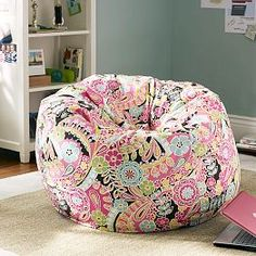 Dark Pink Paisley Pop Beanbag from PBteen. Shop more products from PBteen on Wanelo. Furniture Sale, Furniture Decor, Bean Bag Couch, Metal Outdoor Chairs, Large Bean Bags, College Room, College Life, Area Rugs For Sale, Teen Bedding