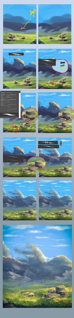 62 ideas landscape drawing step by step deviantart 62 ideas landscape drawing step by step deviantart Landscape Drawing Tutorial, Landscape Drawings, Landscape Paintings, Digital Painting Tutorials, Digital Art Tutorial, Art Tutorials, Process Art, Painting Process, Painting & Drawing