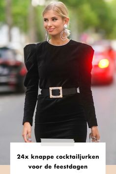 dress | cocktail | black | glitter | earring | zilver | gold | belt | puff sleeves | streetsyle | blonde | buy now | shopping | add to cart | stones | velvet | style | fashion | woman | girl
