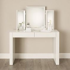 Console/Dressing table x 122 x The White Company at The Wedding Shop. Console/Dressing table x 122 x The White Company at The Wedding Shop Glass Vanity Table, Modern Vanity Table, Glass Sink, Glass Furniture, White Furniture, Bedroom Furniture, The White Company, Home Design, Interior Design