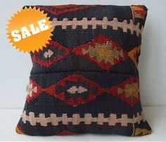 SALE  Anatolian turkish  Rug Pillow Cover kilim by mothersatelier, $49.00