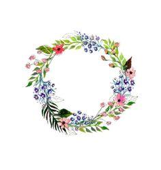 Watercolor flowers wreath vector 4308847 - by lolya1988 on VectorStock®