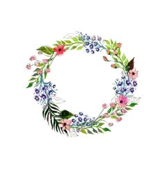 Watercolor flowers wreath vector 4308847 - by lolya1988 on VectorStock®