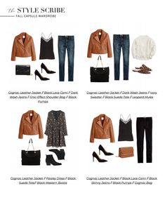 26 Pieces, 100 Outfits // The Style Scribe Fall 2019 Capsule Wardrobe Capsule Wardrobe Mom, Work Wardrobe, Fall Wardrobe, French Wardrobe Basics, Outfits Otoño, Fall Outfits, Fashion Outfits, Fashion Trends, Travel Outfits