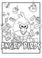 Angry Birds coloring pages - free printable for kids #3