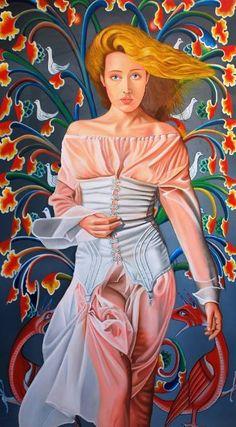 "Saatchi Art Artist Cetin Pireci; Painting, ""The tree of life"" #art"