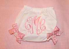 Bloomers w/ Pink Gingham Bows  by SweetandSimpleStitch on Etsy