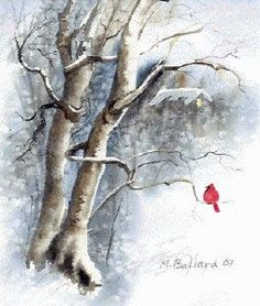 make your own christmas cards, watercolor winter christmas card, making your own cards, christmas