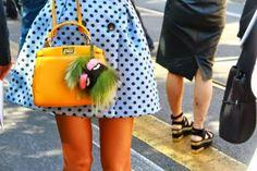 Fendi Bag Bug Fendi Bag Bugs, Fendi Bags, Badass Style, My Style, Fendi Bag Charm, Fendi Fur, Stockholm Street Style, Fur Bag, Street Style Women