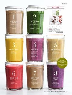 Williams Sonoma Smoothie combos