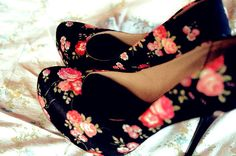 Trendy Dress Shoes for Party,Date, - Vintage Floral Shoes