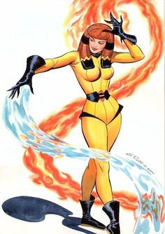 Crystal by Steve Rude. Otherwise known as me in comic form