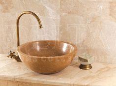 Bathroom Collection Sink | Zurich Noce Travertine Sink (DLT 618)