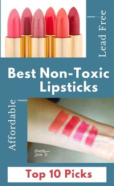 Looking for safe, non-toxic lipstick?  These all natural makeup brands make chemical free, lead free lipstick.  Many of these clean non toxic makeup brands are also organic. These lipsticks are some of the best natural makeup products you will find anywhere.   #safecosmetics Non Toxic Makeup Brands, Natural Makeup Brands, Natural Hair Mask, Best Natural Makeup, Natural Beauty, Lipstick Brands, Lipsticks, Lead Free Lipstick, Ivory Skin Tone