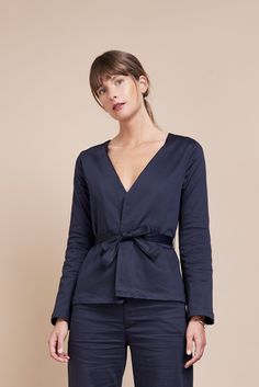 7ce0bc69366 Byem Women s Mina Wrap Blouse Jacket