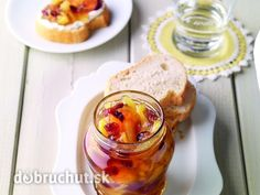 Ananásový džem s brusnicami Chutneys, Cooking Jam, Cooking Recipes, Stevia, Jelly, French Toast, Pudding, Homemade, Breakfast