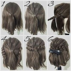 easy prom hairstyle tutorials for girls with short hair #PromHairstyles