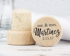 Personalized Mr. and Mrs. Script Wine Stopper  #bottlestopper #bridalshower #cork #customfavor #favor #favour #goldfavor #partyfavor #personalizedfavor #receptionfavor #shower #showerfavor #silverfavor #wedding #weddingfavor #weddingfavors #winecork #winefavor #winestopper #winetheme #woodfavor