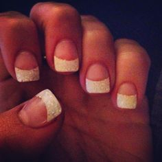 Sparkle tips. Perfect wedding nails