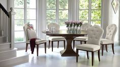 Round Dining Room Table with Leaf Beautiful Bernhardt Haven 54 Round Dining Table with Leaf Dining Table With Leaf, Round Pedestal Dining Table, Dining Room Table, Dining Chairs, Dining Rooms, Round Tables, Round Dining Room Sets, Kitchen Dining Sets, Kitchen Nook