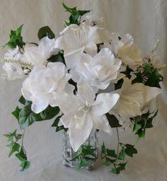 Gardenia/ Lily/Mini Ivy Wedding Bouquet-White