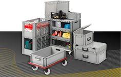 Euro prepravky sú hygienické, stohovateľné plastové nádoby pre dopravu a skladovanie. Euro, Plastic Packaging