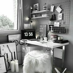 Dream Rooms For Women Home Office - Decoration Home Study Room Decor, Cute Room Decor, Teen Room Decor, Room Ideas Bedroom, Bedroom Decor, Bedroom Colors, Home Office Design, Home Office Decor, Office Ideas